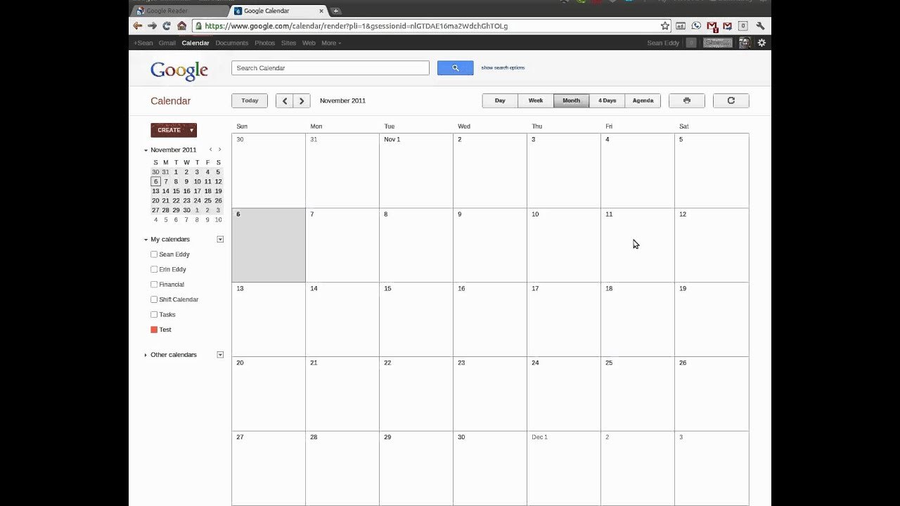 Using Google Calendars To Create A Shift Calendar YouTube - 7 day work schedule template