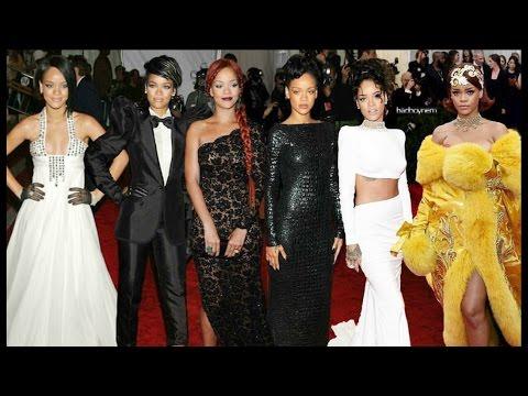 Rihanna's Looks At Met Gala (2007-2015)