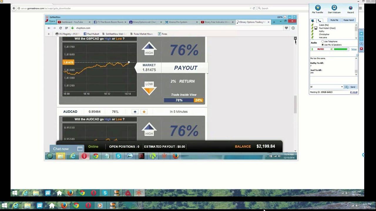 100% Original & binary option live trading rooms help