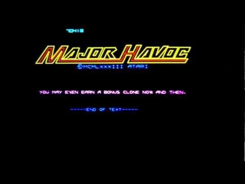 Major Havoc vector arcade game by Atari (1983).