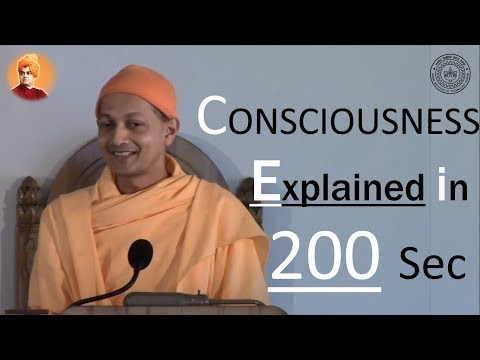 Consciousness beautifully explained in 200 sec | Swami Sarva