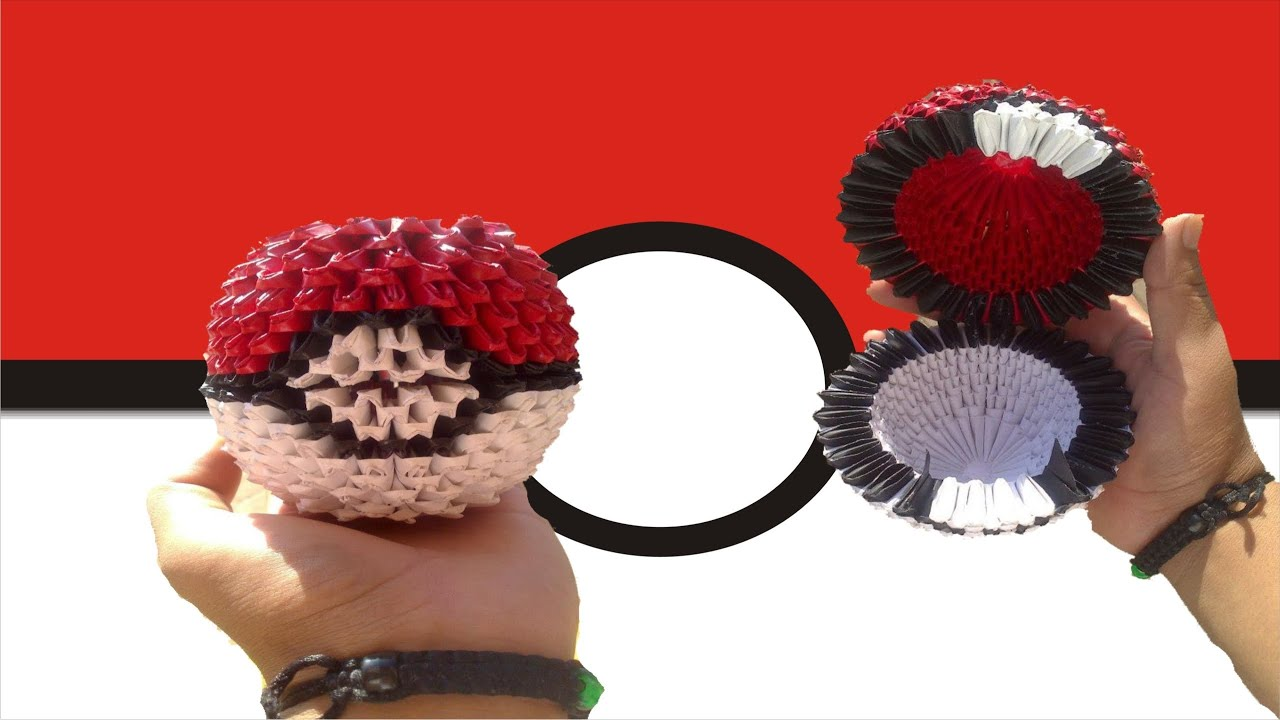 3d origami pokeball diagram network switch wiring pokemon youtube