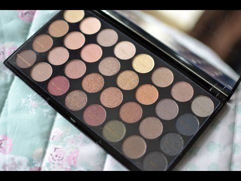 Makeup Revolution Flawless Ultra 32 Shade Eyeshadow Palette tutorial