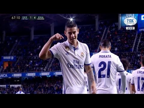 James Rodriguez vs Deportivo La Coruña HD 720p (26/04/2017) by V10 Comps