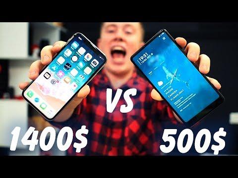 Когда уже Xiaomi надерёт задницу Apple? iPhone X vs Xiaomi Mi Mix 2