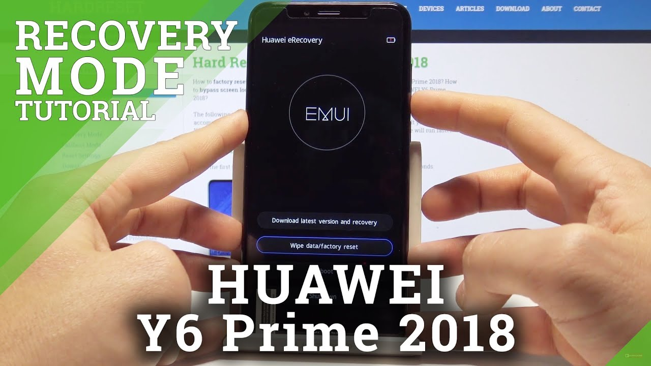 How to Enter Recovery Mode in HUAWEI Y6 Prime 2018 - eRecovery Mode