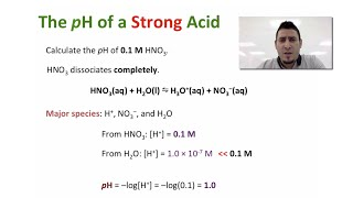 Acids & Bases   pH of a Strong Acid & a Strong Base.