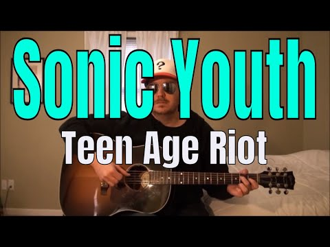 sonic youth - teen age riot - fingerpicking guitar cover