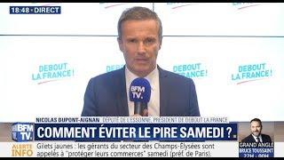 Nicolas Dupont-Aignan en duplex sur BFMTV