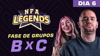 FREE FIRE AO VIVO - NFA LEGENDS SEASON 1 -  GRUPO B x C - DIA 6