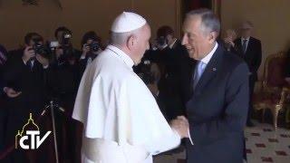 Đức Thánh Cha Phanxicô tiếp kiến Tổng thống Nước Cộng hòa Bồ Đào Nha