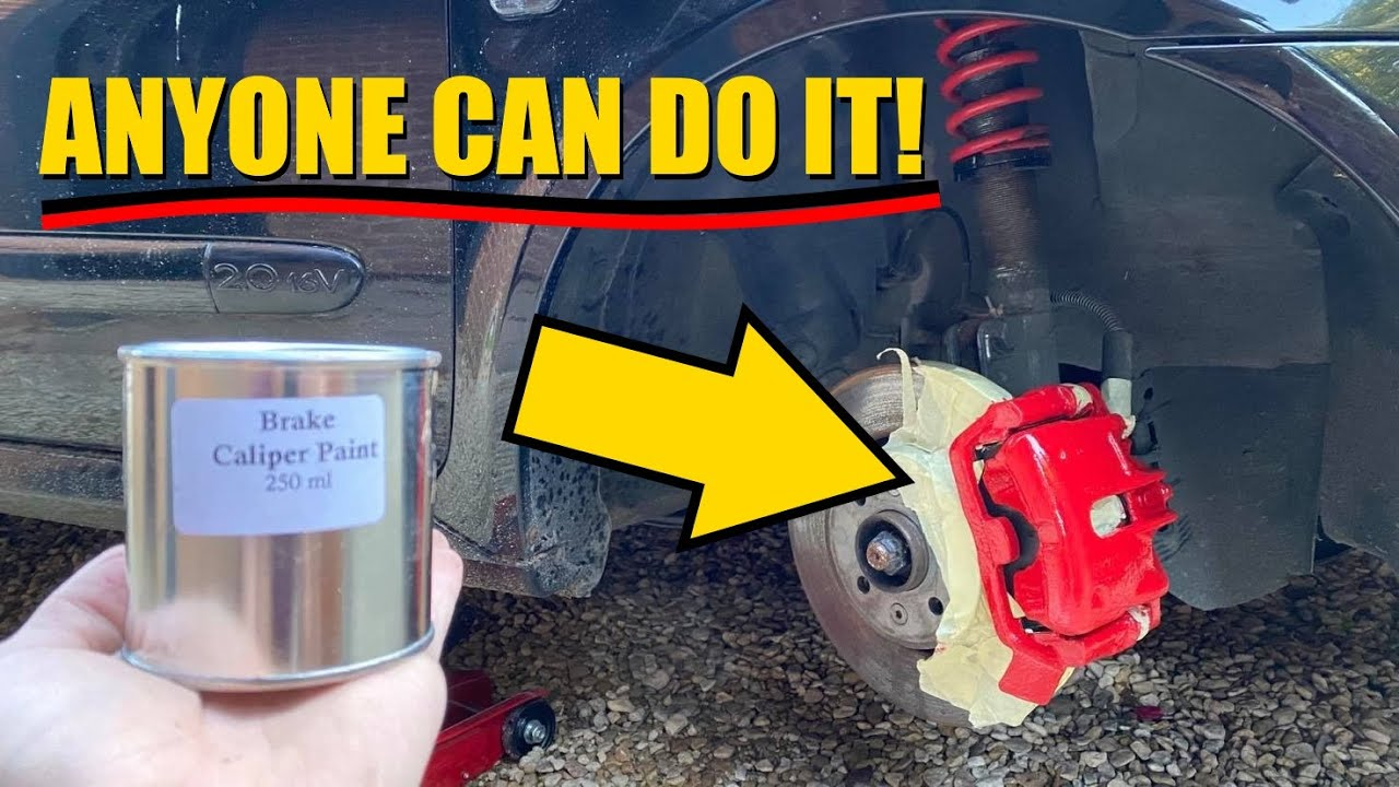 How To Paint Brake Calipers The EASIEST WAY With NO MESS!