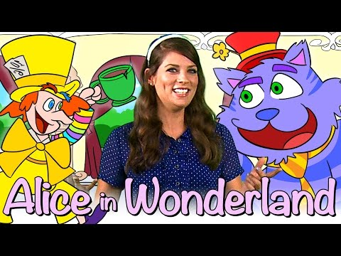 Alice in Wonderland - FULL Story!   Story Time with Ms. Booksy at Cool School