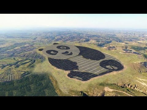 World's first panda-shaped solar power plant opens in Shanxi
