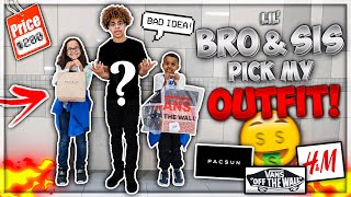 Little Brother & Sister PICK MY OUTFIT Challenge!!🤑🔥   *Public 1-10 Rating*