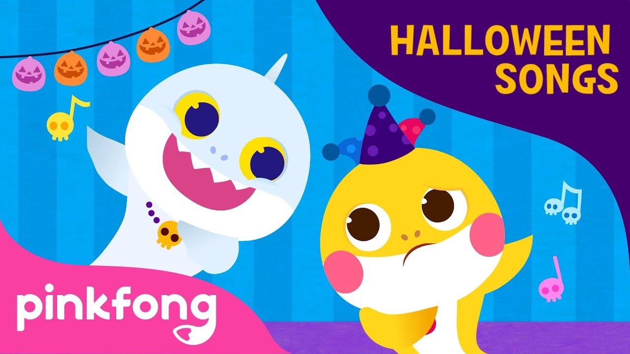 Ghost Baby Shark   Canciones de Halloween   Pinkfong Canciones Infantiles