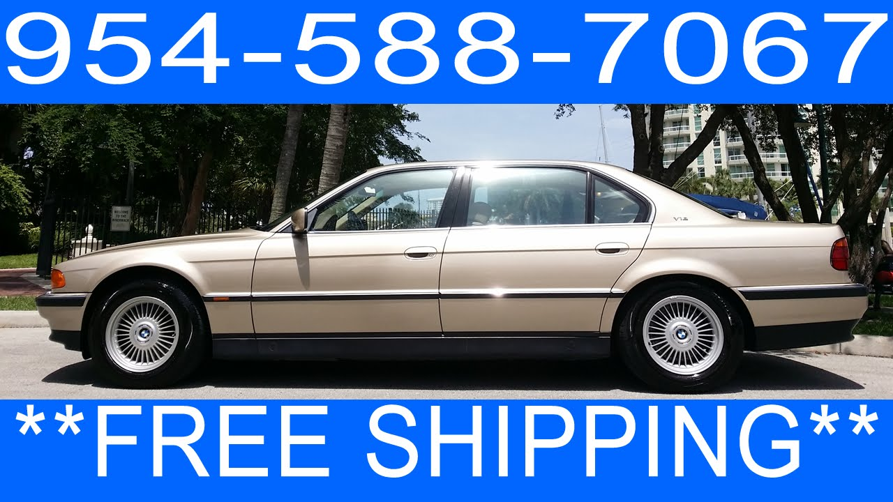 BMW Convertible 1990 bmw 750 1995 BMW 750IL V12 For Sale 954 588 7067 - YouTube
