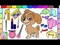 Put Funny Makeup On Skye From Paw Patrol | Skye Dress Up | Learn Names Of Colors And Clothes