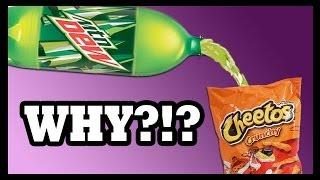 味覚テスト!! Mountain Dew Cheetos and Hot Cans! - Food Feeder