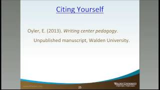 Citing Yourself
