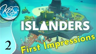 Islanders Ep 2: TIGHT SPACES - First Look - PUZZLE CITY BUILDER - Let's Play, Gameplay
