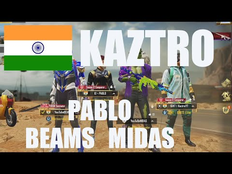 Play with @Kaztro GAMING and @Midas and PABLO│power of power team│pubg mobile│pubg m│INDIA│INDIAN from YouTube · Duration:  14 minutes 11 seconds
