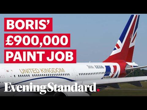Boris Johnson's £900,000 Paint Job On His RAF Voyager Plane Is Unveiled