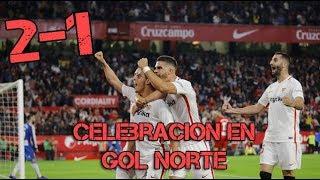 CELEBRACION en GOL NORTE | Sevilla vs Espanyol 11/11/2018
