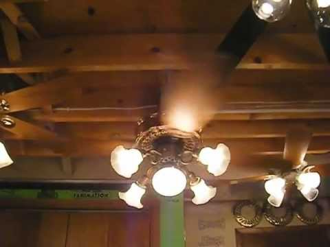 casablanca victorian ceiling fan (complete) - youtube