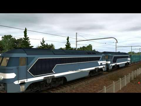 TRAINZ voyage en cabine d'une A1A A1A 68000 SACM AGO V12
