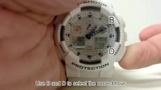 GA-100 Adjusting Settings Including Daylight Saving Time