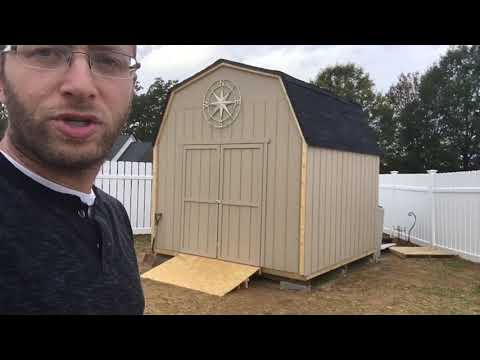 Lowes Heartland Rainier Gambrel Engineered Wood Storage Shed Review