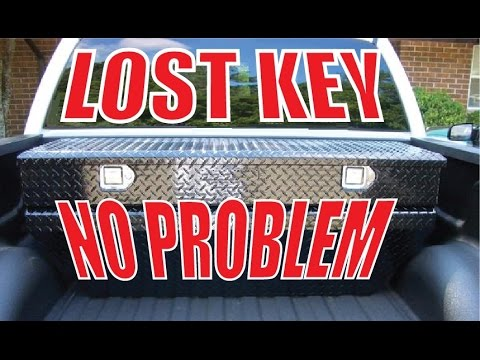 lost key for your truck toolbox make your own! -