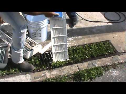 Como lavar un aire acondicionado tipo mini split con for Como montar un aire acondicionado
