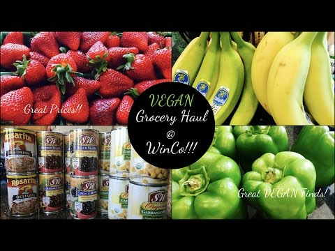 VEGAN GROCERY HAUL from WINCO! | Do They Have Vegan Friendly Items?!?! | Prices Shown!