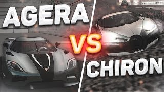 BUGATTI CHIRON SUPER SPORT vs KOENIGSEGG AGERA R! (MTA | CCDPlanet)