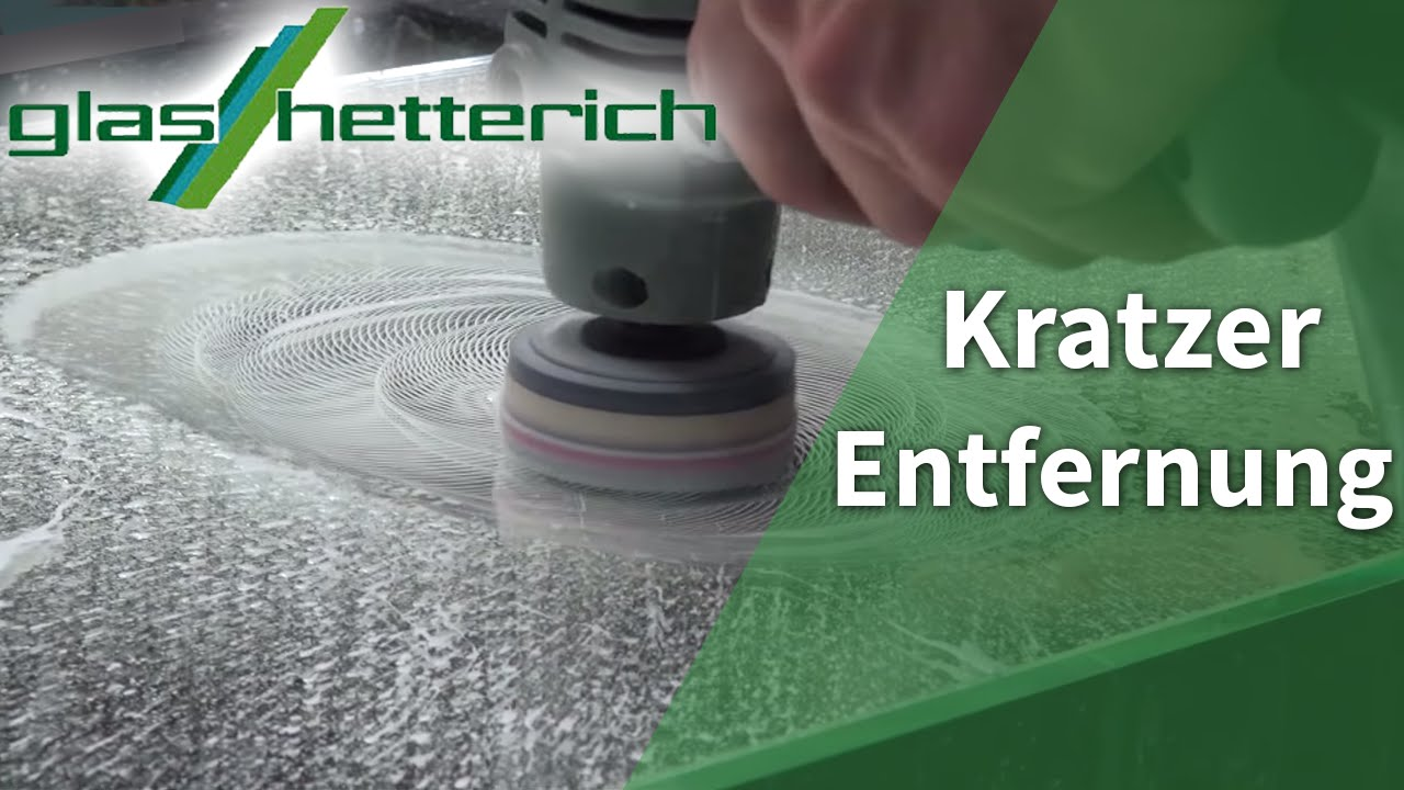 Professionelle Entfernung Kratzer im Glas im Video - YouTube