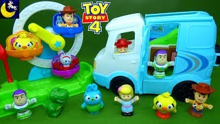 Fisher Price Little People Toy Story 4 Toys Camperground RV Buzz Lightyear Woody Toddler Kids Toys