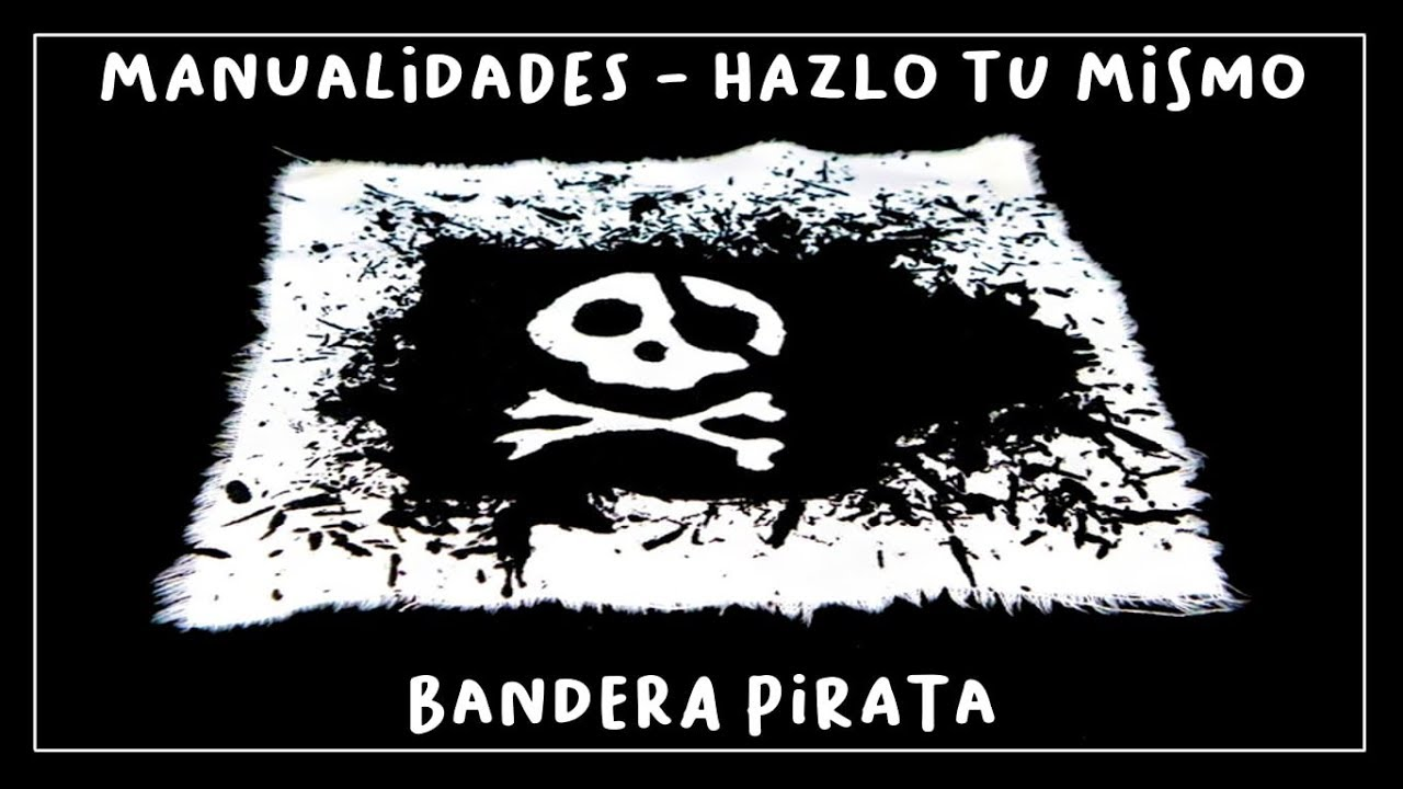 Cómo estampar una bandera pirata - YouTube
