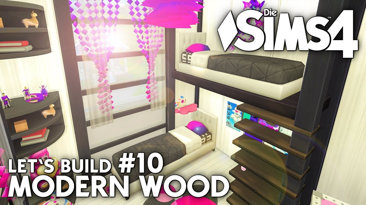Modern wood haus bauen in die sims 4 let 39 s build 10 - Sims 4 dach bauen ...