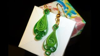 quilling paper earrings | latest design quilling paper Earrings Making Tutorial
