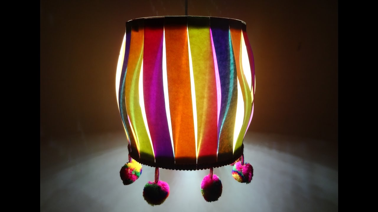 Paper Crafts (Diwali/Christmas Decoration Ideas): Multicoloured ... for Diwali Lamp Craft  174mzq