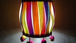 Paper Crafts (Diwali/Christmas Decoration Ideas): Multicoloured Christmas Lantern