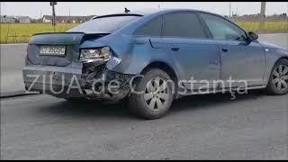 Accident rutier pe DN 3 Valu lui Traian - Constanța. Două mașini implicate.