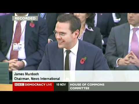 Tom Watson Asks James Murdoch - Have You Been Arrested?