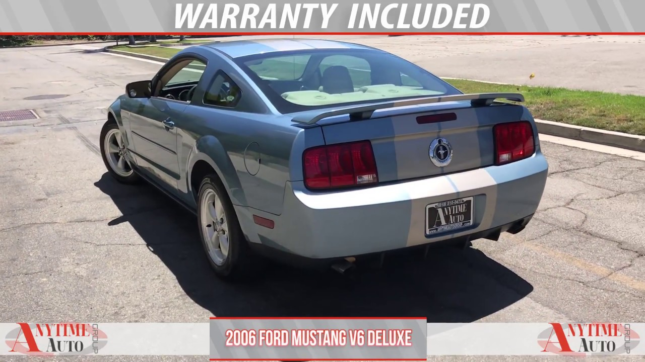2006 ford mustang v6 deluxe blue