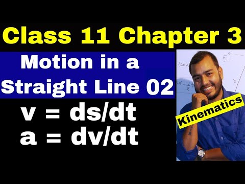 Class 11 chap 3 : Motion in a Straight Line 02 || Instantaneous Velocity || Kinematics || IIT/ NEET