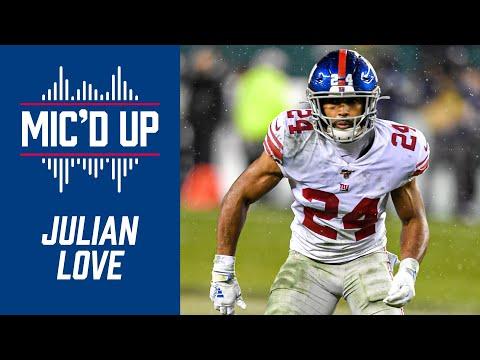 Julian Love mic'd up   Giants vs. Jets highlights