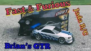 Fast & The Furious- Brian's Nissan Skyline GTR-R34 Jada R/C
