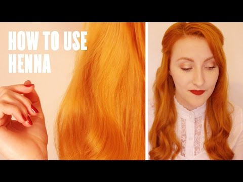 HOW TO USE HENNA HAIR DYE  RockyApplebee  YouTube